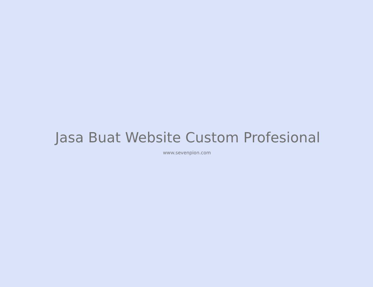 jasa buat website custom