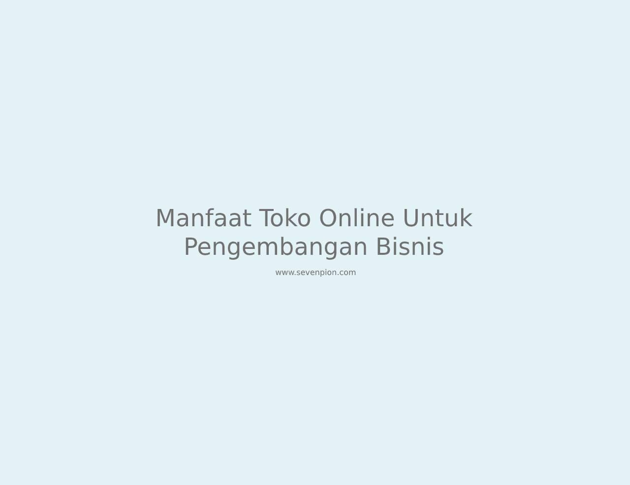manfaat toko online