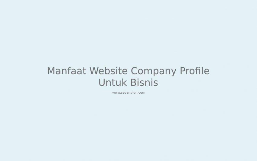 manfaat website company profile