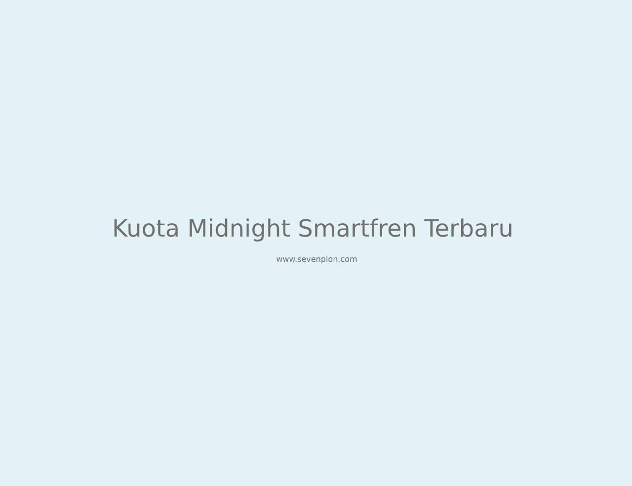 kuota midnight smartfren